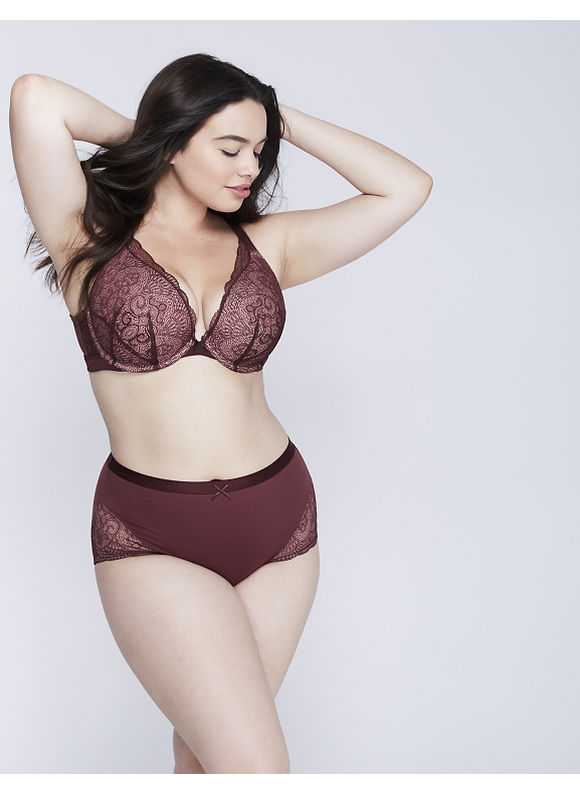 Cacique Plus Size Charmer Full Brief Panty with Lace,  Women' Size: 26/28,  Port Royale plus size,  plus size fashion plus size appare
