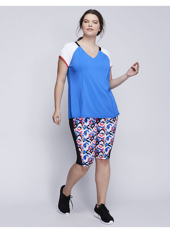 Livi Active Plus Size Wicking Laser Cutout Active Tee,  Women' Size: 22/24,  Blue plus size,  plus size fashion plus size appare