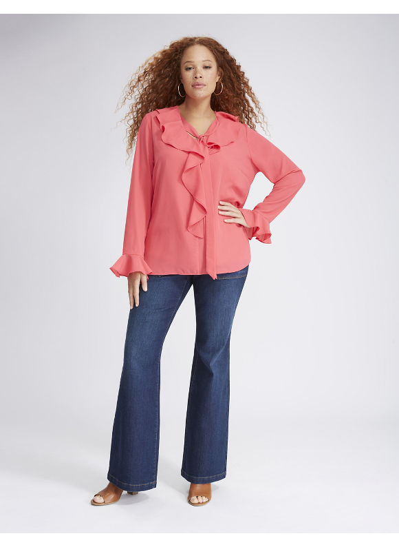 Lane Bryant Plus Size Ruffled Blouse,  Women' Size: 26,  Dubarry plus size,  plus size fashion plus size appare