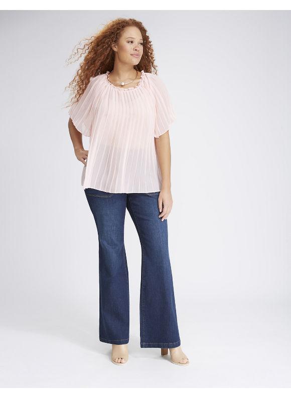 Lane Bryant Plus Size Pleated Blouse,  Women' Size: 18/20,  Pink plus size,  plus size fashion plus size appare