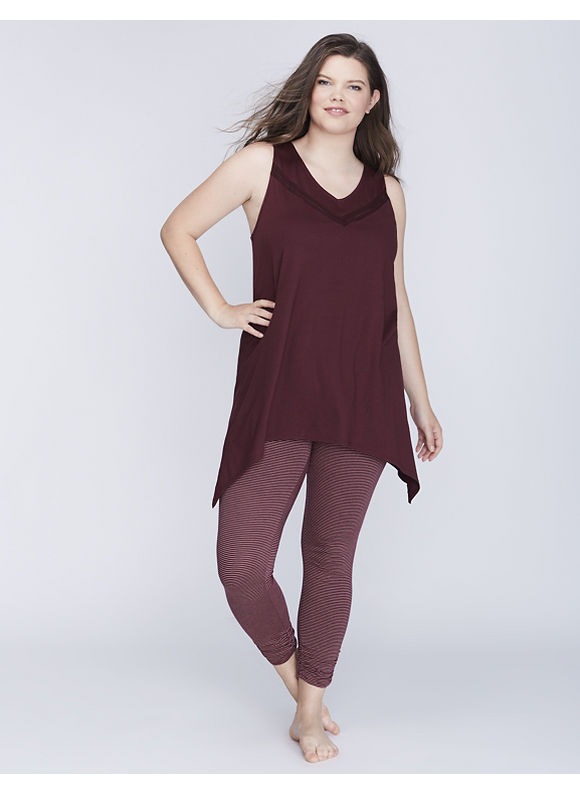 Cacique Plus Size Racerback Tank & Legging PJ Set,  Women' Size: 18/20,  Port Royal plus size,  plus size fashion plus size appare