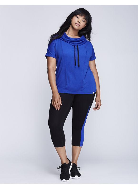 Livi Active Plus Size Short-Sleeve Seamed Active Pullover,  Women' Size: 26/28,  Hyper Blue plus size,  plus size fashion plus size appare