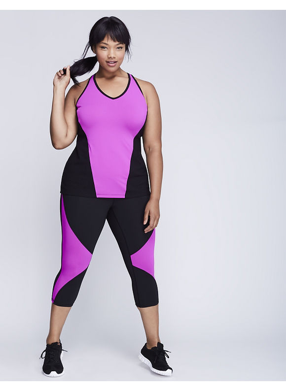 Livi Active Plus Size Strappy-Back Structured Tank,  Women' Size: 18/20,  Pink plus size,  plus size fashion plus size appare