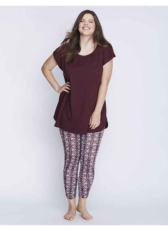Cacique Plus Size Short-Sleeve Tee & Legging PJ Set,  Women' Size: 14/16,  Port Royale plus size,  plus size fashion plus size appare