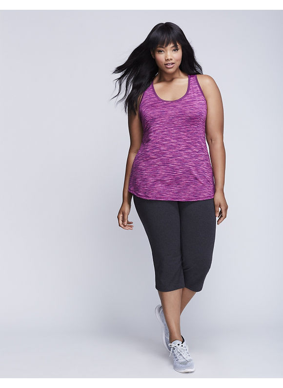 Livi Active Plus Size Spacedye Yoga Tank with Mesh,  Women' Size: 22/24,  Purple plus size,  plus size fashion plus size appare