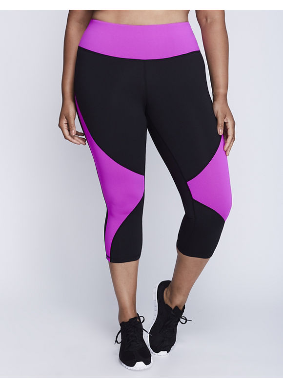 Livi Active Plus Size Wicking Colorblock Capri Legging,  Women' Size: 22/24,  Pink plus size,  plus size fashion plus size appare