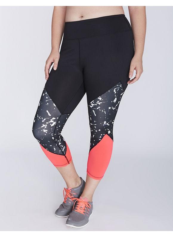 Jessica Simpson Plus Size Three-Panel Active Capri Legging by,  Women' Size: 18/20,  Black plus size,  plus size fashion plus size appare