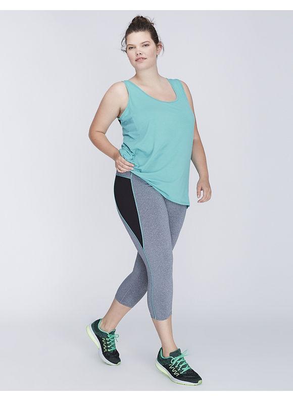 Jessica Simpson Plus Size Oval Mesh Active Capri Legging by,  Women' Size: 26/28,  Gray plus size,  plus size fashion plus size appare