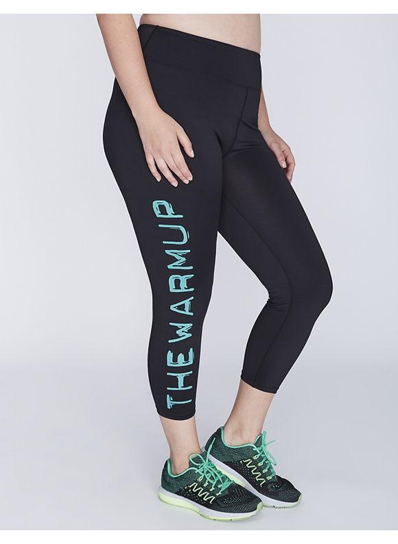 Jessica Simpson Plus Size The Warmup Active Capri Legging by,  Women' Size: 14/16,  Black plus size,  plus size fashion plus size appare