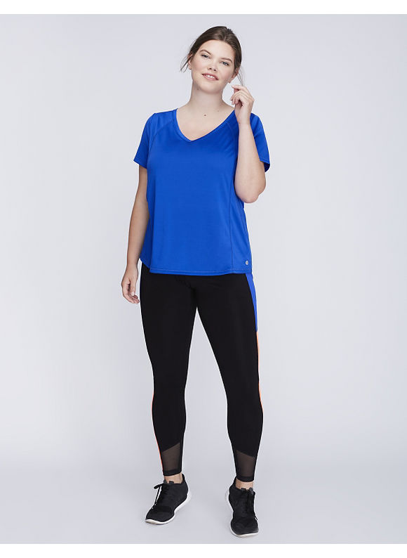 Livi Active Plus Size Wicking Active Tee with Mesh,  Women' Size: 18/20,  Hyber Blue plus size,  plus size fashion plus size appare