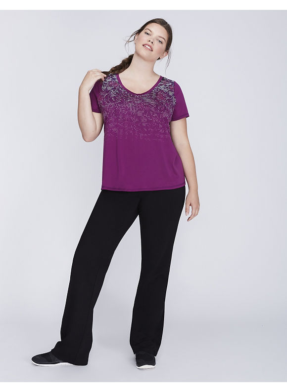 Livi Active Plus Size Wicking Graphic Active Tee with Mesh,  Women' Size: 18/20,  Purple plus size,  plus size fashion plus size appare