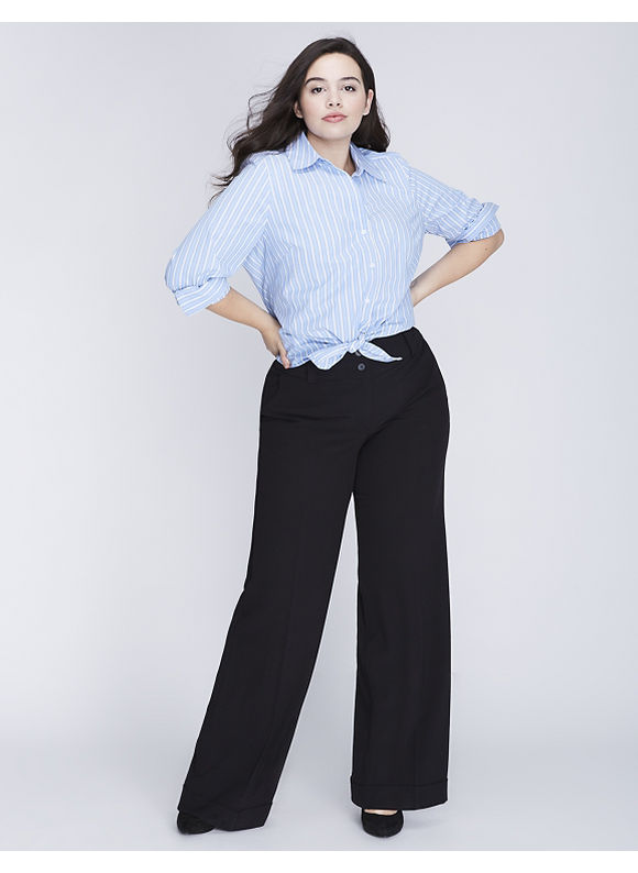Lane Bryant Plus Size Lena Tailored Stretch Wide Leg Pant,  Women' Size: 28,  Black plus size,  plus size fashion plus size appare