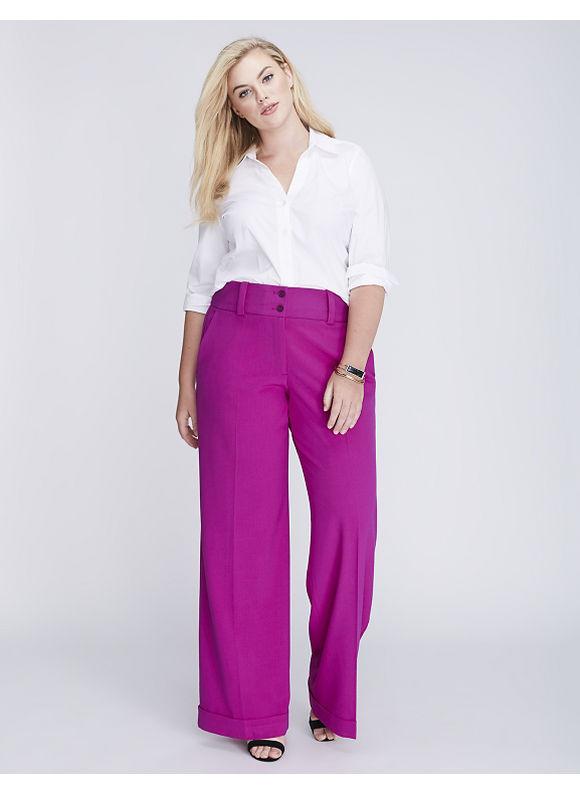 Lane Bryant Plus Size Lena Tailored Stretch Wide Leg Pant,  Women' Size: 24,  Spicy Orchid plus size,  plus size fashion plus size appare