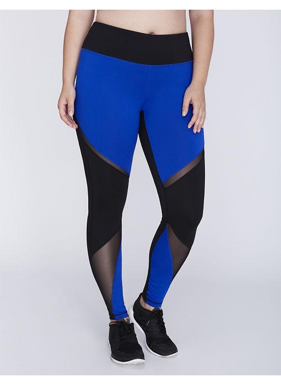 Livi Active Plus Size Wicking Active Legging with Mesh Inset Women' Size: 22/24,  Hyper Blue plus size,  plus size fashion plus size appare