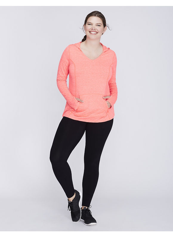 Livi Active Plus Size Wicking Active Pullover Hoodie,  Women' Size: 14/16,  Coral plus size,  plus size fashion plus size appare
