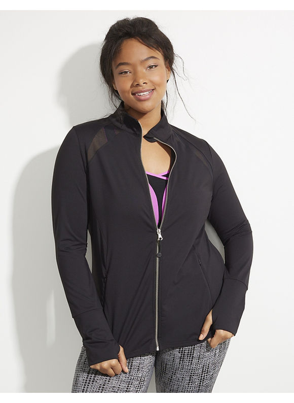 Plus Size Clothing, Plus Size Womens Clothing Livi Active Plus Size Wicking Active Jacket with Mesh Insets, Women's, Size: 22/24, Black plus size, plus size activewear,