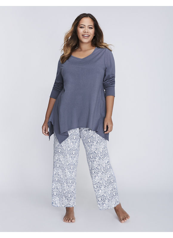 Cacique Plus Size Printed Sleep Pant,  Women' Size: 14/16,  Deco Scroll Heather plus size,  plus size fashion plus size appare