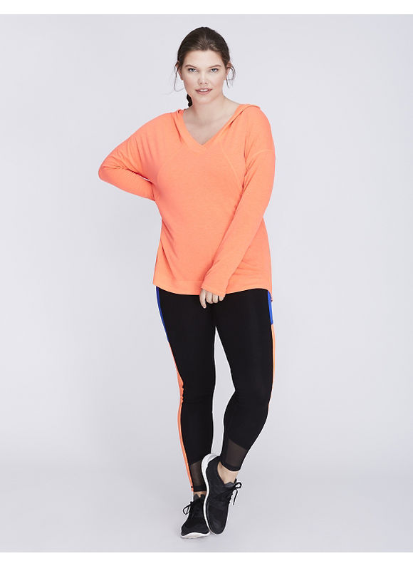 Livi Active Plus Size Pullover Active Tunic with Hood,  Women' Size: 26/28,  Coral plus size,  plus size fashion plus size appare