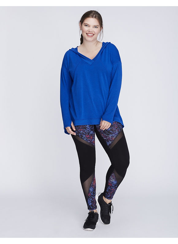 Livi Active Plus Size Pullover Active Tunic with Hood,  Women' Size: 18/20,  Hyper Blue plus size,  plus size fashion plus size appare