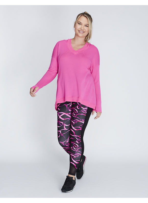 Livi Active Plus Size Pullover Active Tunic with Hood,  Women' Size: 14/16,  Bold Pink plus size,  plus size fashion plus size appare
