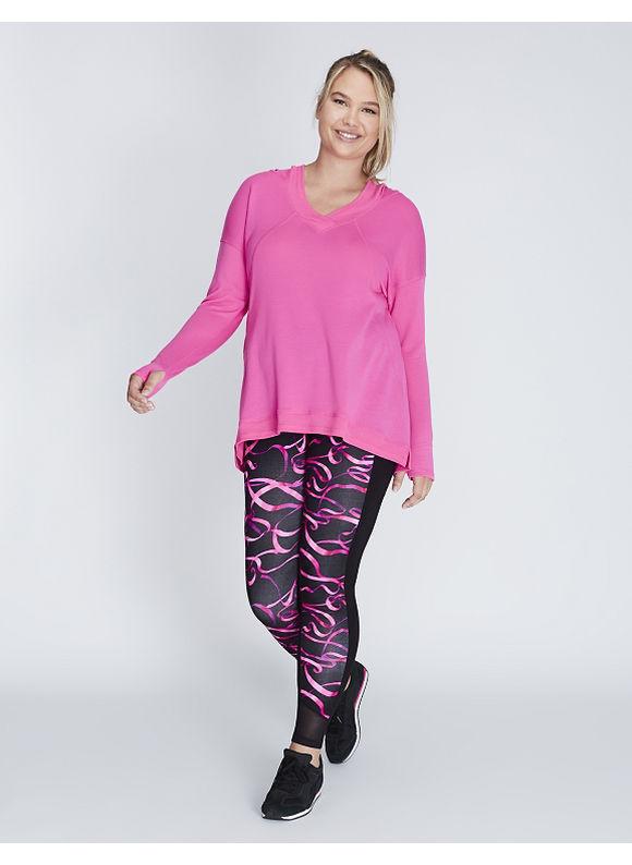 Livi Active Plus Size Pullover Active Tunic with Hood,  Women' Size: 26/28,  Bold Pink plus size,  plus size fashion plus size appare