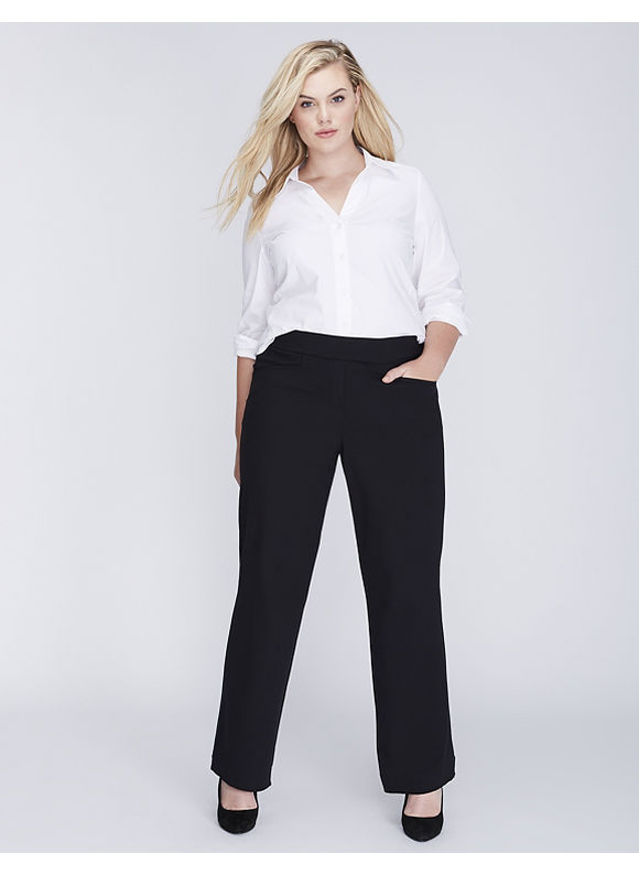 Lane Bryant Plus Size Ponte Trouser,  Women' Size: 14/16 T,  Black plus size,  plus size fashion plus size appare