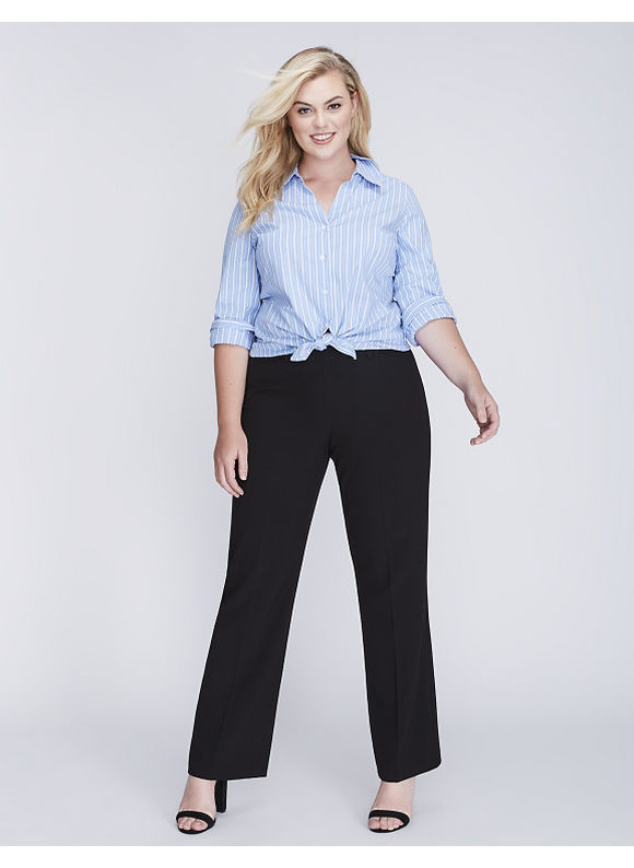 Lane Bryant Plus Size Lena Tailored Stretch Trouser,  Women' Size: 20,  Black plus size,  plus size fashion plus size appare