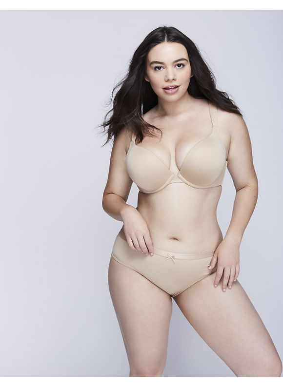 Cacique Plus Size Dazzler Hipster Panty with Lace Back,  Women' Size: 18/20,  Tan plus size,  plus size fashion plus size appare