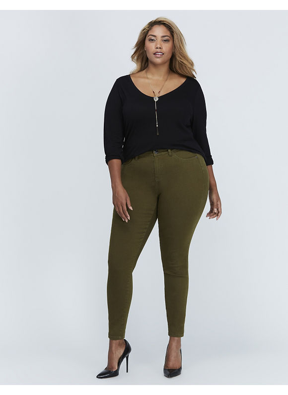 Lane Bryant Plus Size High-Rise Jegging,  Women' Size: 28,  Dark Olive plus size,  plus size fashion plus size appare