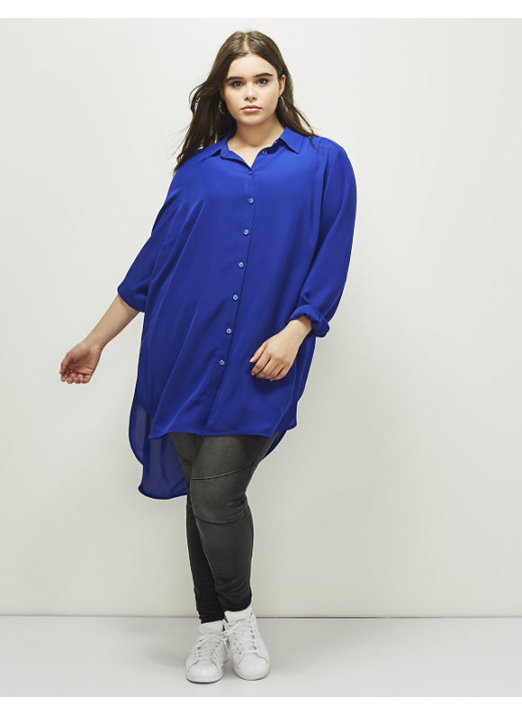 Lane Bryant Plus Size 6th & Lane Button-Down Tunic,  Women' Size: 12,  Mixed Berry plus size,  plus size fashion plus size appare