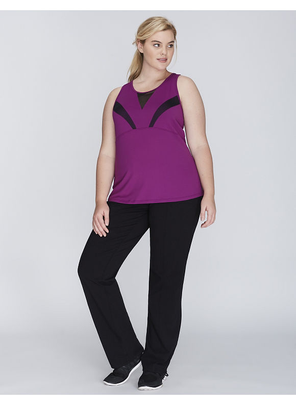 Livi Active Plus Size Wicking Mesh-Blocked Active Tank,  Women' Size: 18/20,  Grape Juice plus size,  plus size fashion plus size appare
