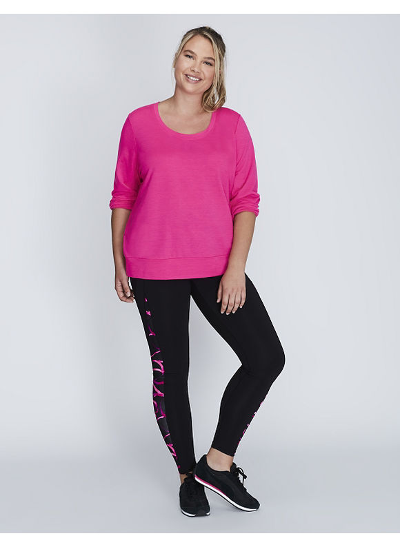 Livi Active Plus Size Active Sweatshirt,  Women' Size: 22/24,  Bold Pink plus size,  plus size fashion plus size appare