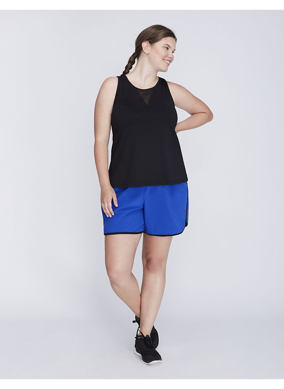 Livi Active Plus Size Wicking Mesh-Blocked Active Tank,  Women' Size: 14/16,  Black plus size,  plus size fashion plus size appare