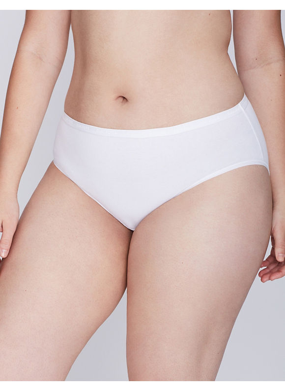Cacique Plus Size Sassy cotton hipster panty,  Women' Size: 22/24,  White plus size,  plus size fashion plus size appare