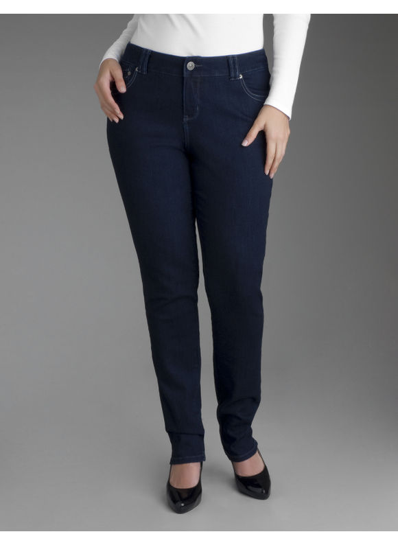 Skinny leg jeans - Women's Plus Size/Dark Rinse Denim - Size 20