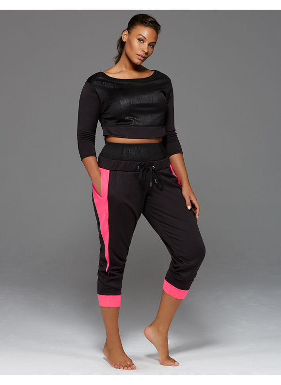 Sophie Theallet Plus Size Fleece crop top by, Women's, Size: 14/16, Black