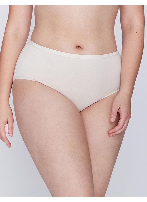 Cacique Plus Size Sassy cotton high leg brief panty,  Women' Size: 26/28,  Off White plus size,  plus size fashion plus size appare