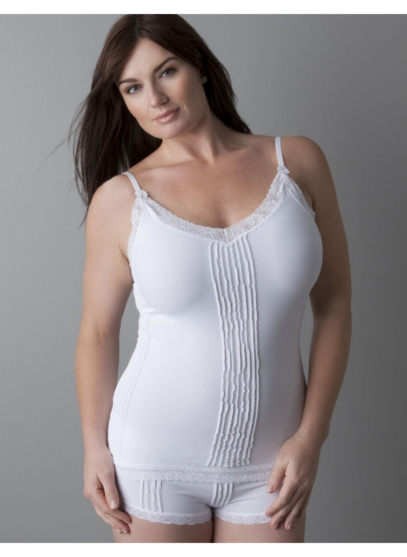 Lane Bryant plus size white camisole 2013
