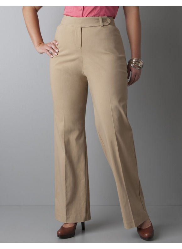 Pasazz.net Favorite -  Lane Bryant Classic leg career pant with Right Fit Technology -