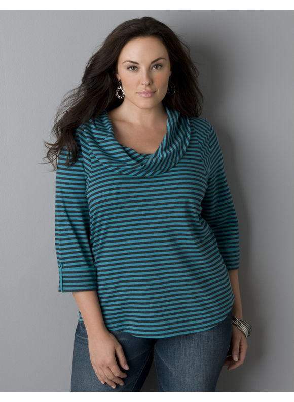Pasazz.net Favorite -  Lane Bryant Supima® cotton cowl neck tee - Women's Plus