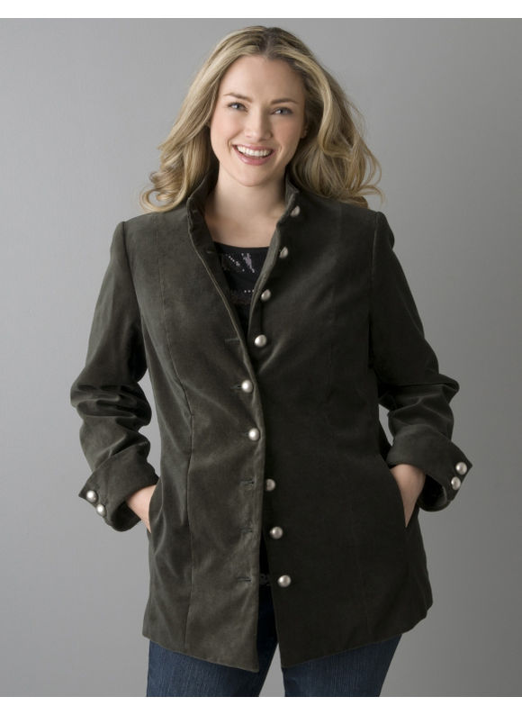 Lane Bryant Women's Plus Size/Ivy Velvet military jacket - Size 16