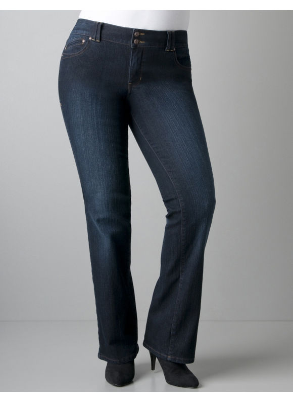 Pasazz.net Favorite -  Lane Bryant Bootcut jean with T3 Tighter Tummy Technology - Women's