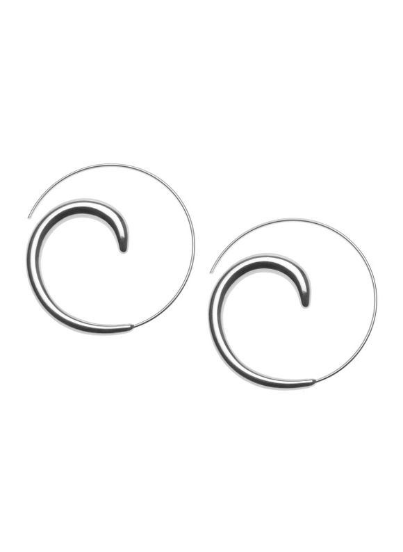 Lane Bryant Silvertone swirl earrings by - - Size One Size