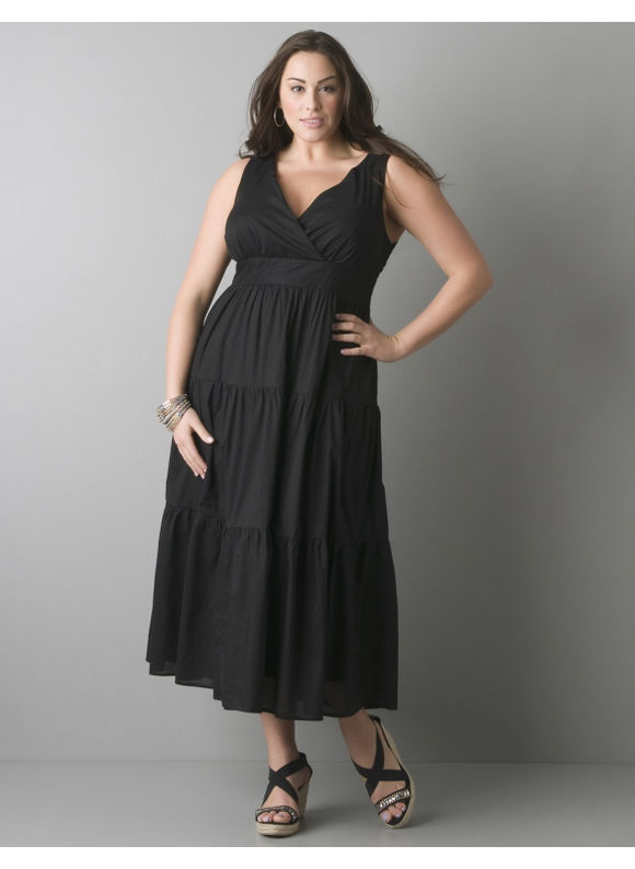 Tiered maxi dress - Women's Plus Size/Black - Size 20