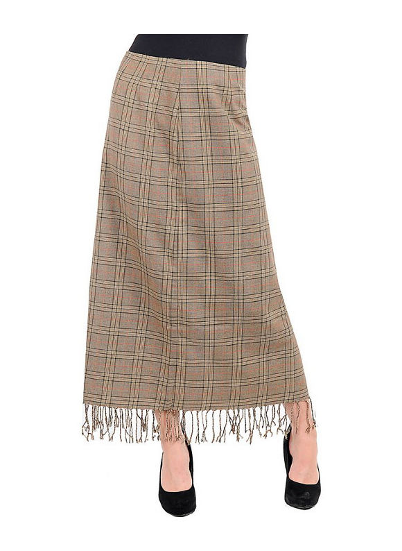 Fringed Long Skirt by alight