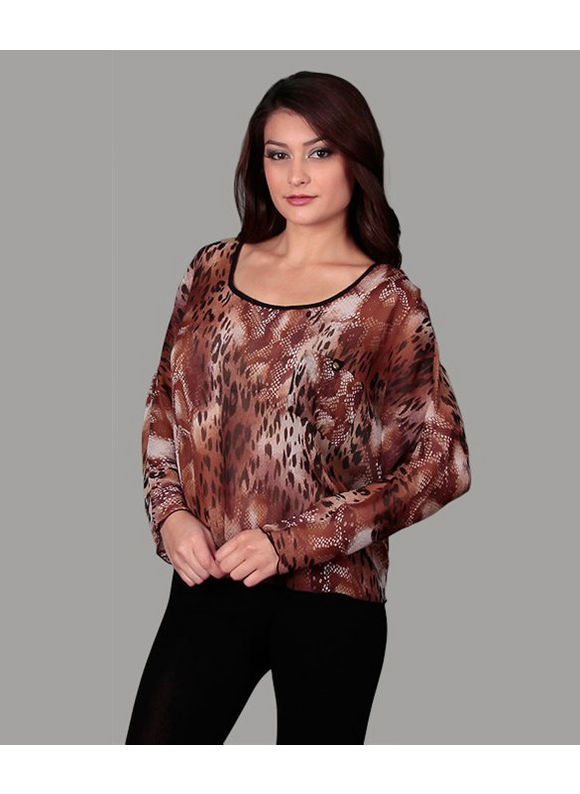 Brown Leopard Top by alight