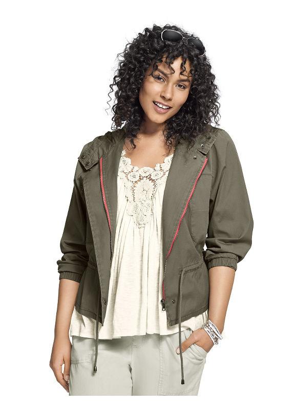 Lane Bryant Plus Size Anorak jacket Size 14,16,18,20,22,24,26, Palmer Green - Lane Bryant ~ Trendy Plus Size Clothes