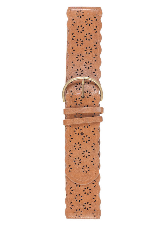 Tan Cutout Belt by City Chic