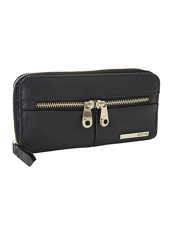 Wooster Street Zip Around w/ Front Panel by Kenneth Cole Reaction Wallets