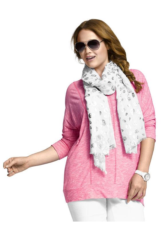 Lane Bryant Women's Foiled skull scarf Size One Size, white - Lane Bryant ~ Trendy Plus Size Clothes